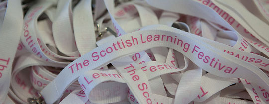 Scottish Learning Festival lanyard