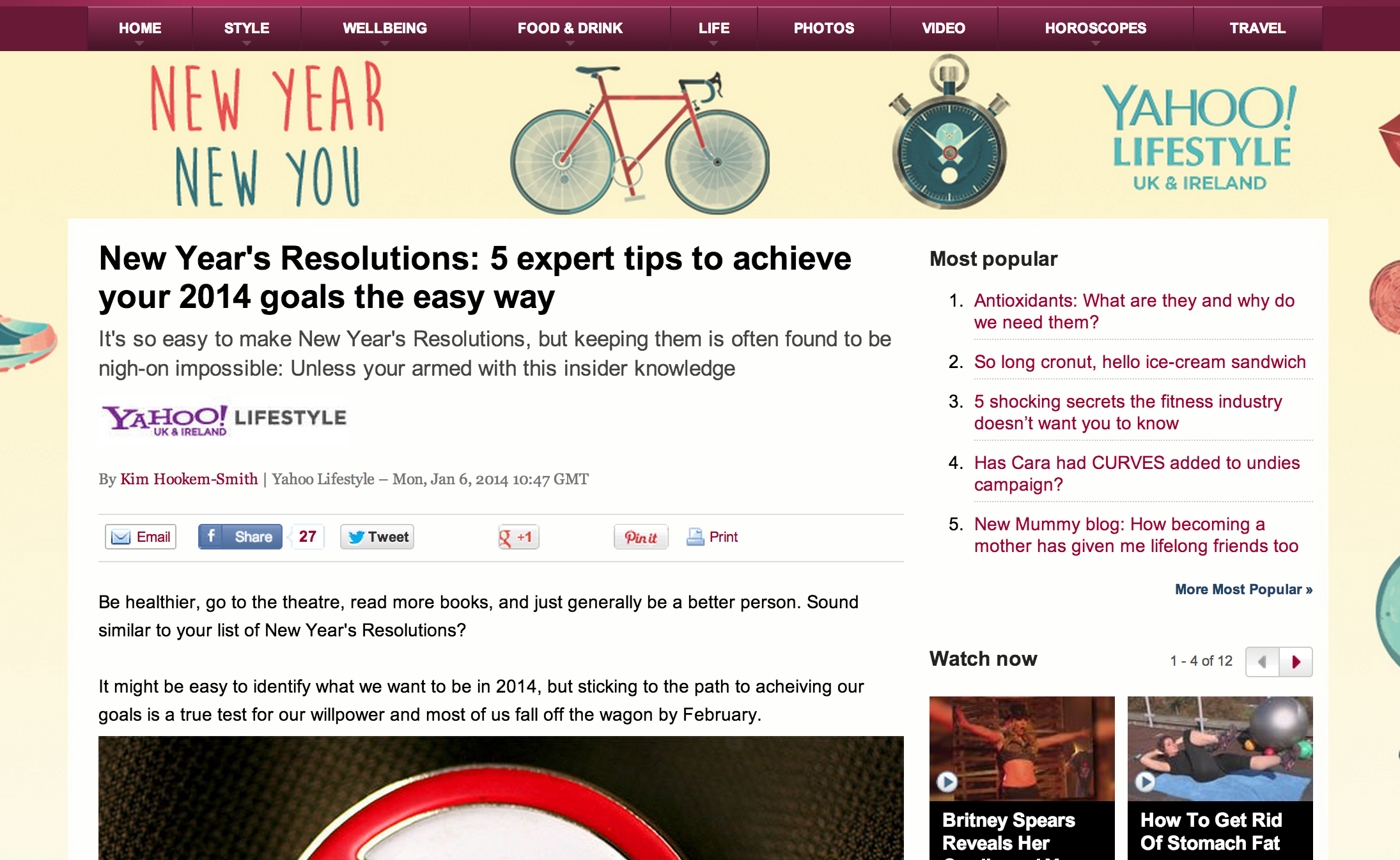tips for success with new year's resolutions